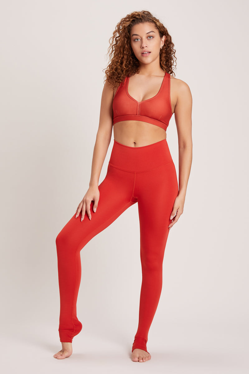 Endless High Waisted Legging - Vivid Chili