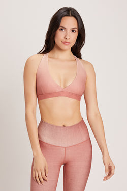 Tri Sports Bra - Cactus Rose