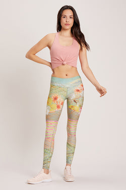 Cactus Flower High Waisted Legging