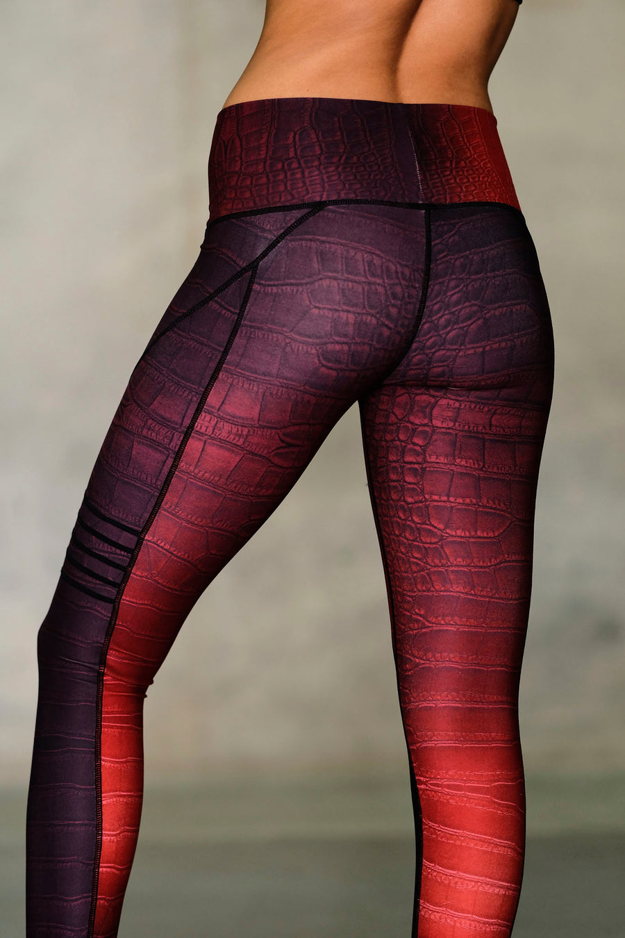 Croc High Waisted Slice Legging