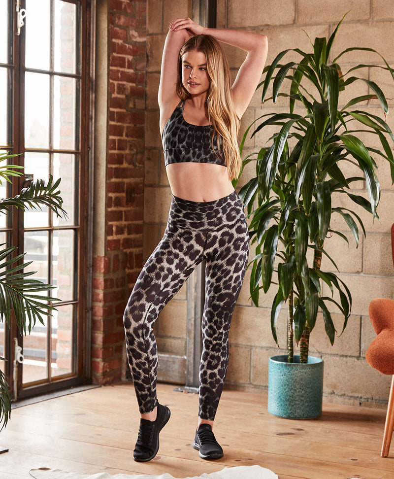 Black Leopard High Waisted Legging