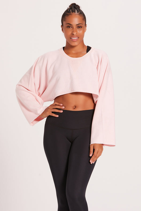 Crop Sweatshirt - Ballet