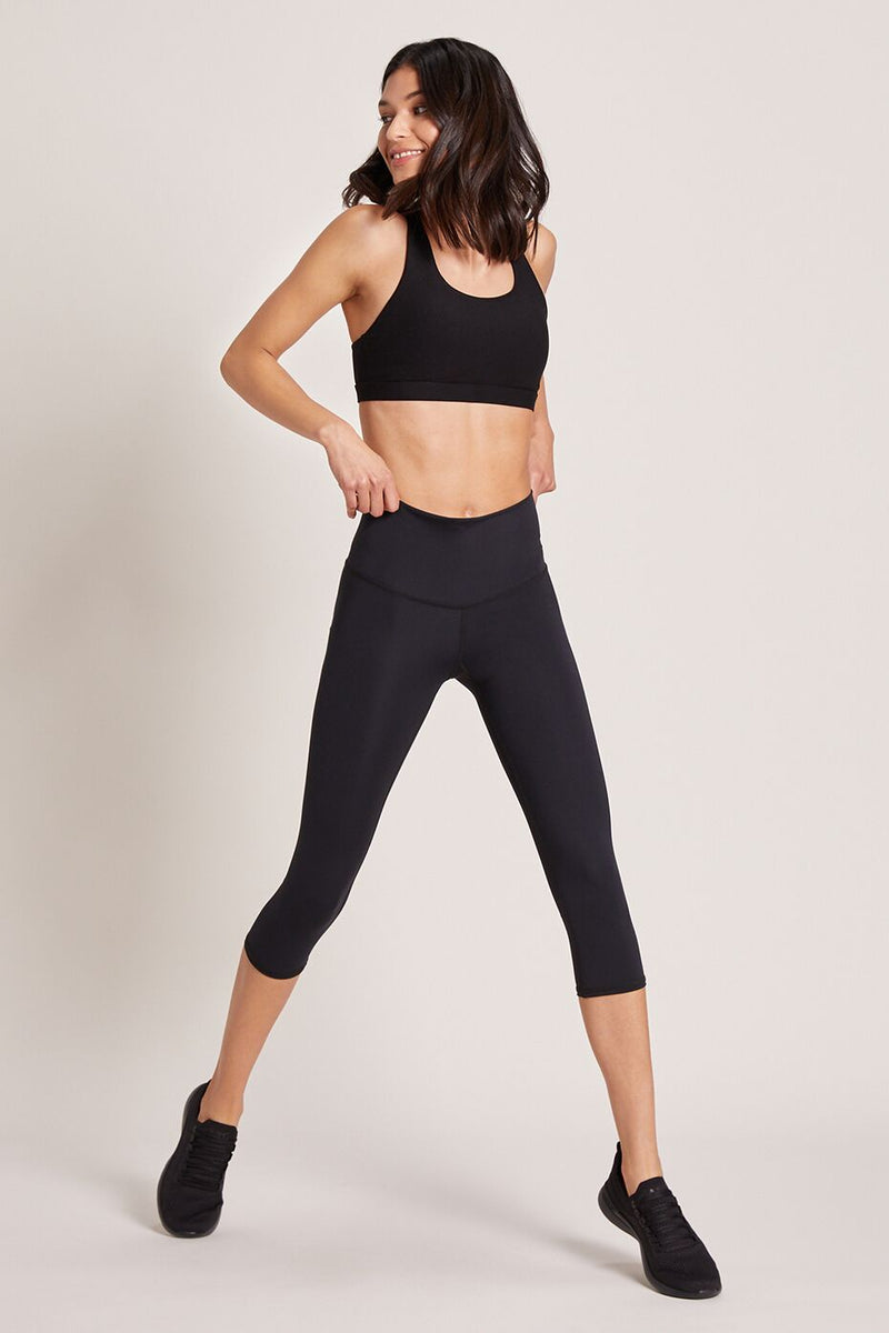 Beachcomber High Waisted Crop - Black