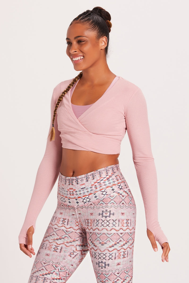 Crop Wrap Sweater - Bunny