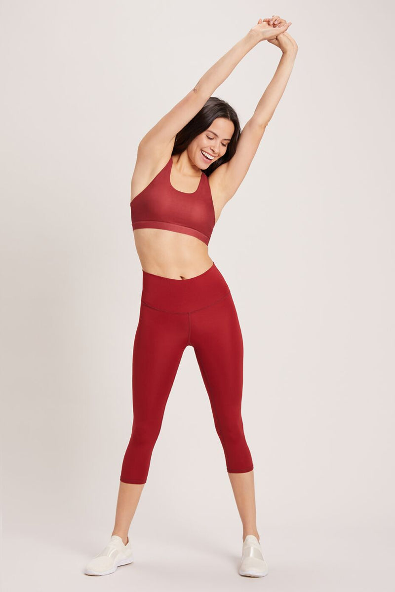 Beachcomber High Waisted Crop - Vivid Cabernet