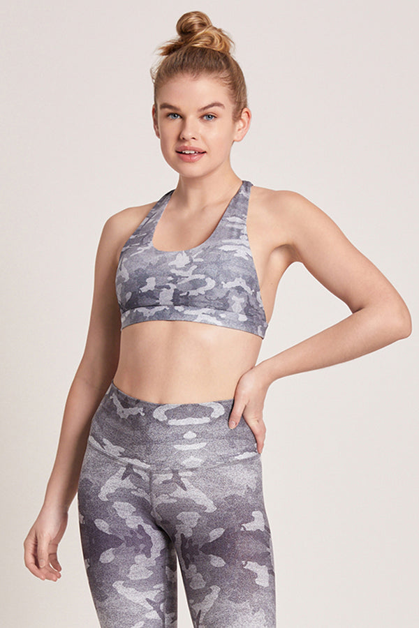 Camo Dream Catcher Sports Bra - Mist