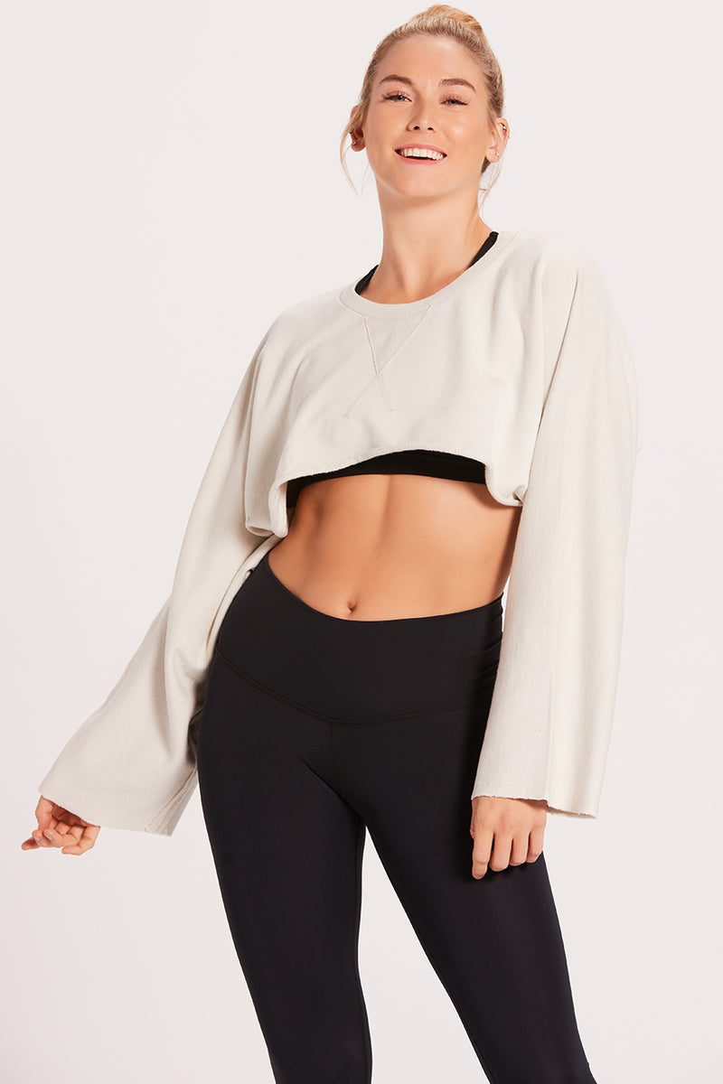 Crop Sweatshirt - Stone