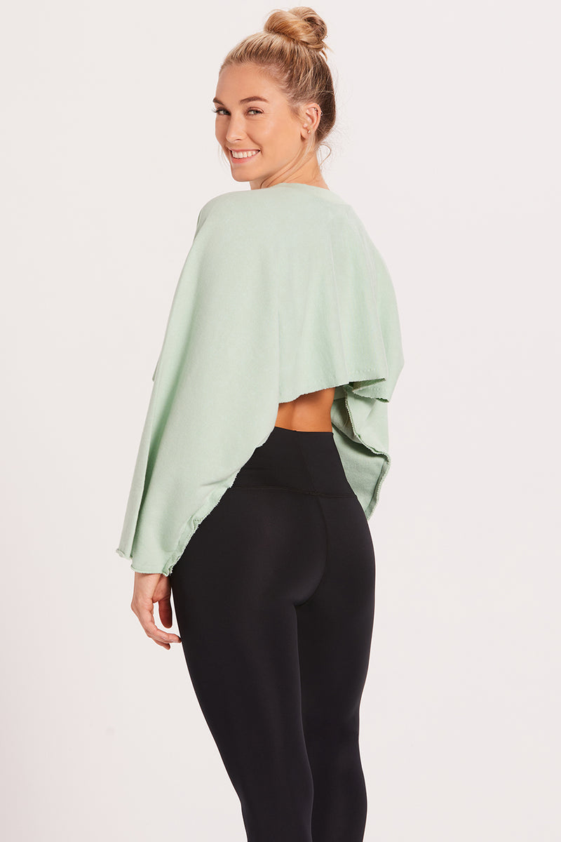 Crop Sweatshirt - Mint