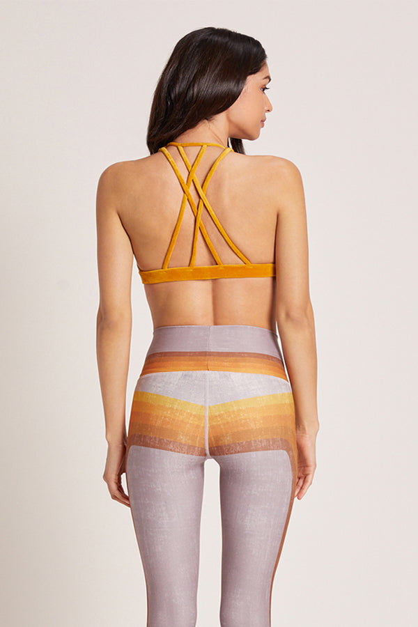 Velour Dream Catcher Sports Bra - Marigold