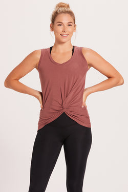 Knotted Tank Top - Mauve