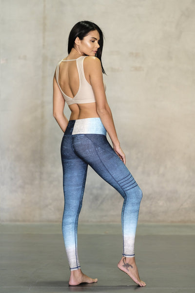 Lagoon High Waisted Slice Legging - Niyama Sol