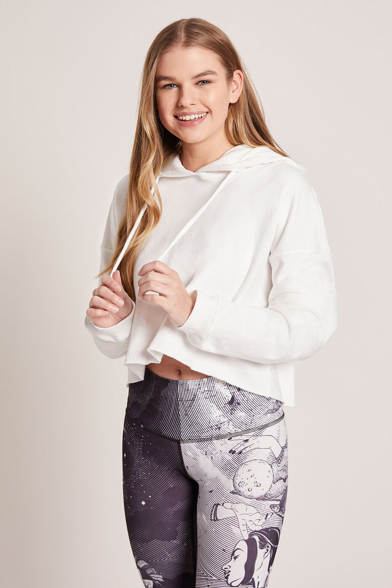 Leaucadia Cropped Hoodie - White
