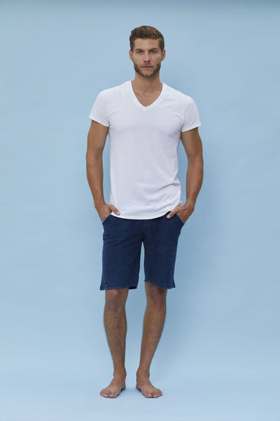 Mens Destroyed Terry Shorts - Niyama Sol