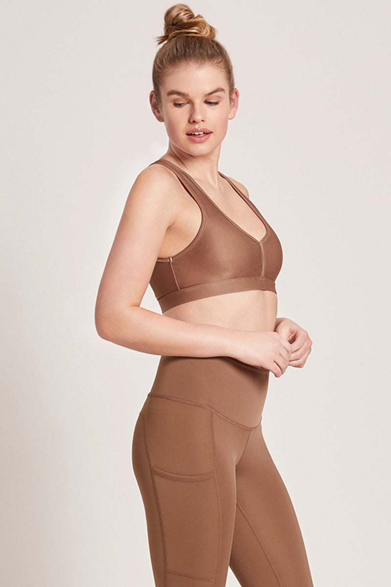 Eclipse Medium Support Sports Bra - Nutmeg