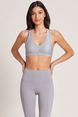 Eclipse Medium Support Sports Bra - Platinum