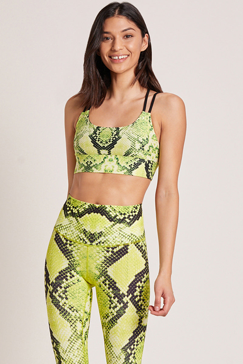 Diamondback Sports Bra - Python Electric Lemon
