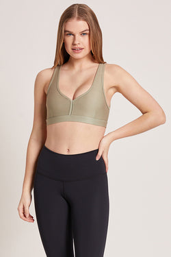 Eclipse Medium Support Sports Bra - Sage