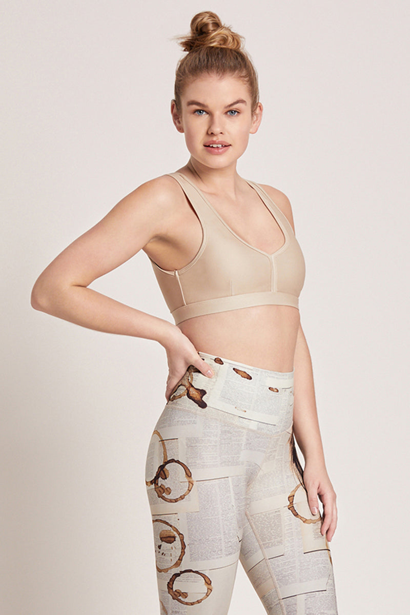 Eclipse Medium Support Sports Bra - Sand