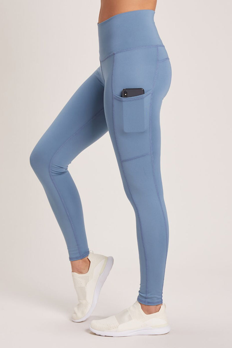 Wander High Waisted Pocket Legging - Vivid Celestite
