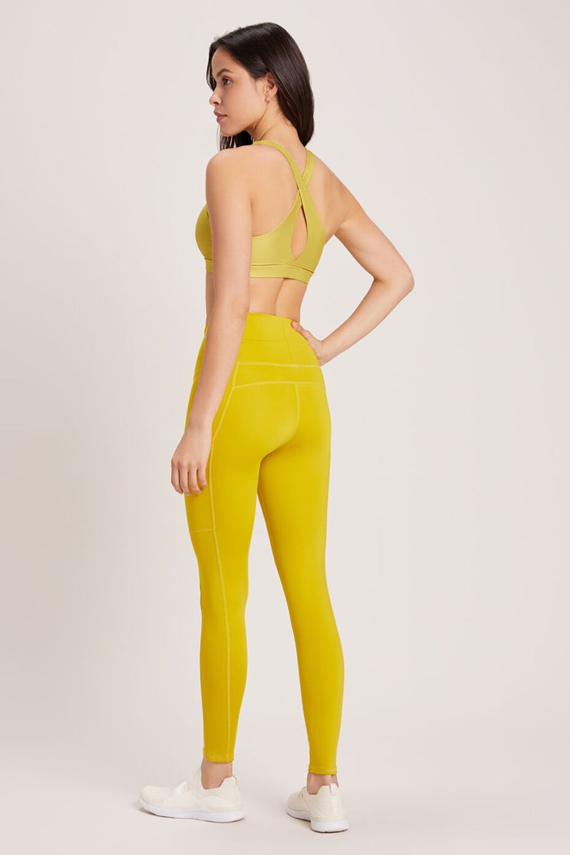 Wander High Waisted Pocket Legging - Vivid Chartreuse
