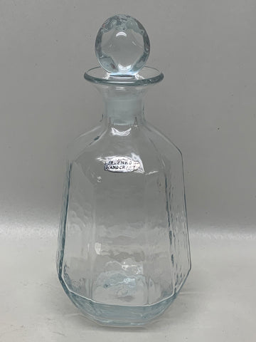 Blenko #8134M Crystal Facet Line Decanter
