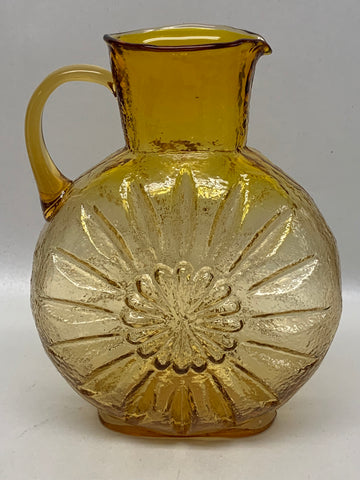 Kanawha Glass Sunflower Handled Pitcher