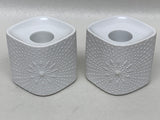 Krautheim Selb Bavaria Germany OP ART Candle Holder Pair