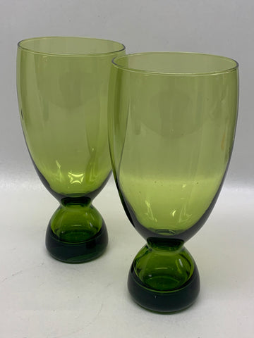 Morgantown Glass Candle / Vase Holder Pair