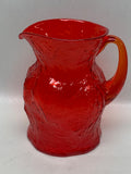 Morgantown Glass Cherry Red Driftwood Pitcher & Tumbler Set