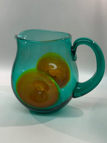 Blenko #819 Dollop Pitcher - Mint & PawPaw