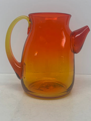 Blenko #574 Cocktail Pitcher - Tangerine