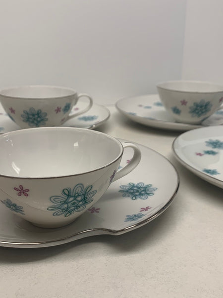 "Mid-Century China ""Atomic"" Luncheon Set"