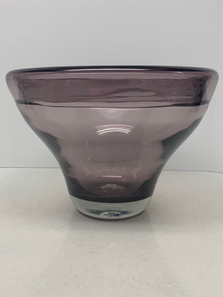 Blenko Glass 592-L Bowl - Wayne Husted - Lilac - 1959
