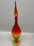 Blenko #6528S Decanter - Tangerine