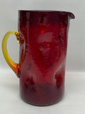 Blenko #6714 Pinch Pitcher - Tangerine