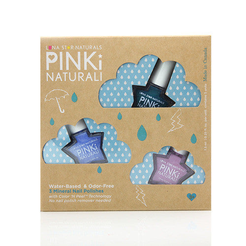 RAINY DAY BLUES ( HARTFORD, LITTLE ROCK, SALEM) Nail Polish Gift Set - KIDTON - 1