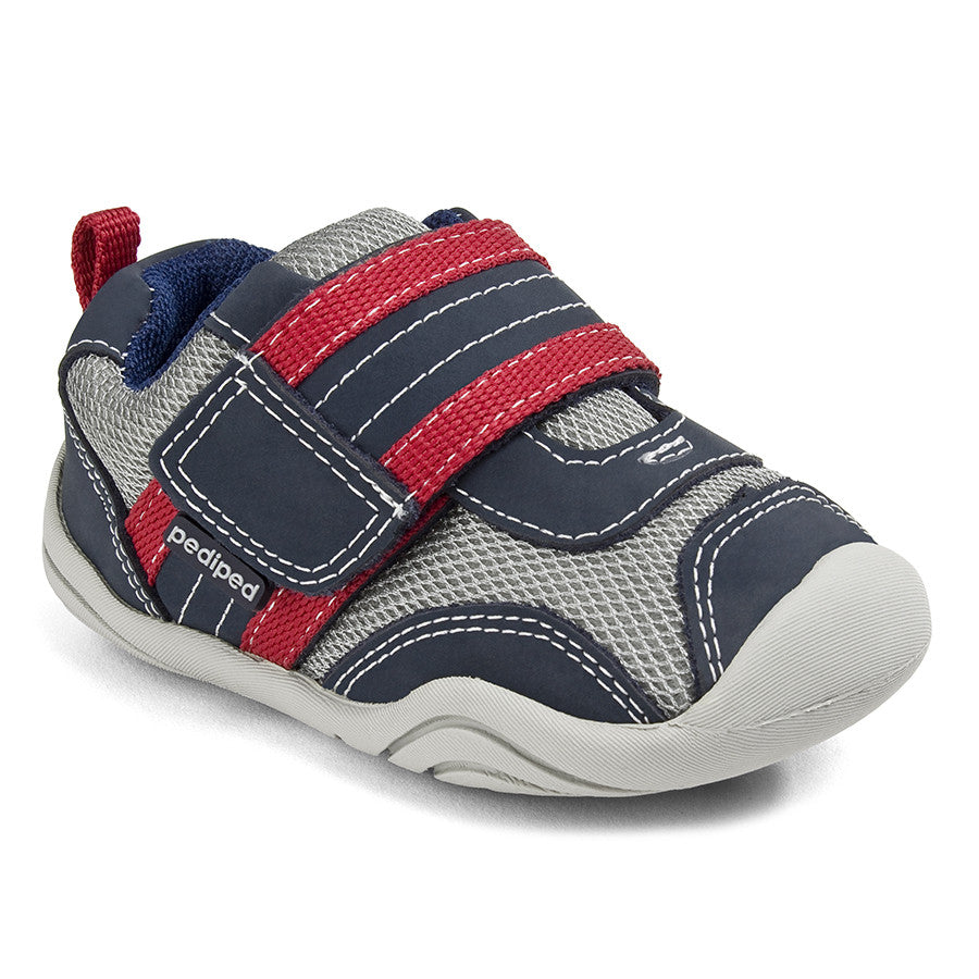 Pediped Grip N Go - Adrian Navy/Gray/Red - KIDTON - 1