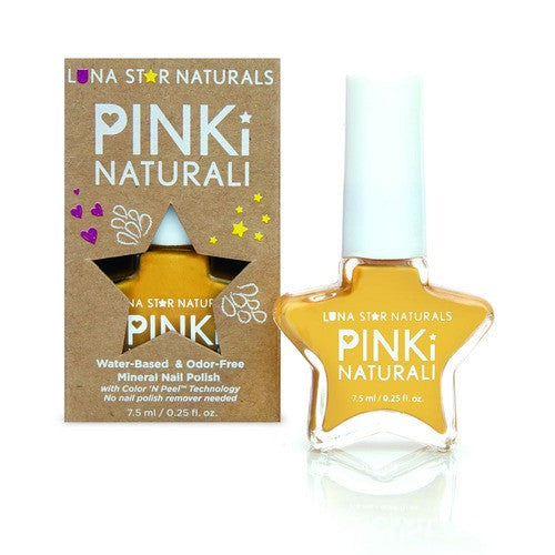 AUGUSTA (Sunflower Yellow), Water-Based Pinki Naturali NAIL POLISH - KIDTON - 1