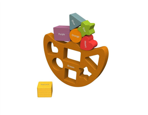 Balance Boat Shapes & Colors - KIDTON - 1
