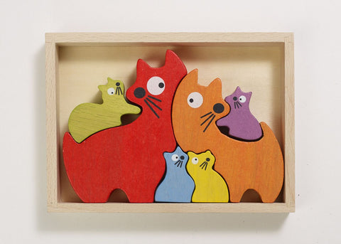 Cat Family Puzzle - KIDTON - 1