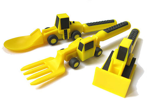 Constructive Eating Utensils - Set of 3 - KIDTON - 1