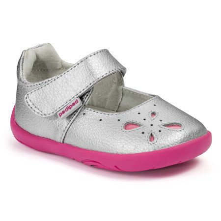 Pediped Shoes Grip N Go - Antoinette Silver - KIDTON - 1