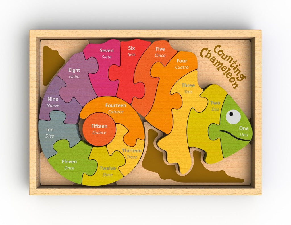 Counting Chameleon Puzzle - KIDTON - 1