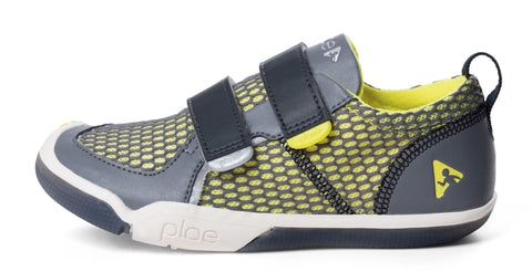 Ty - The Sneaker, Steel / Yellow - KIDTON - 1