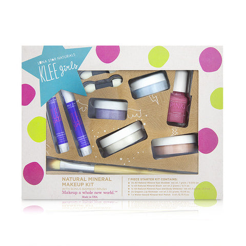 Up and Away - KLEE Girls 7-PC Makeup Set with Bonus Bamboo Brush - KIDTON - 1