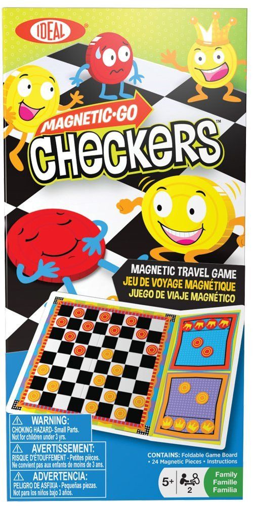 Magnetic Go! Games - Checkers - KIDTON - 1