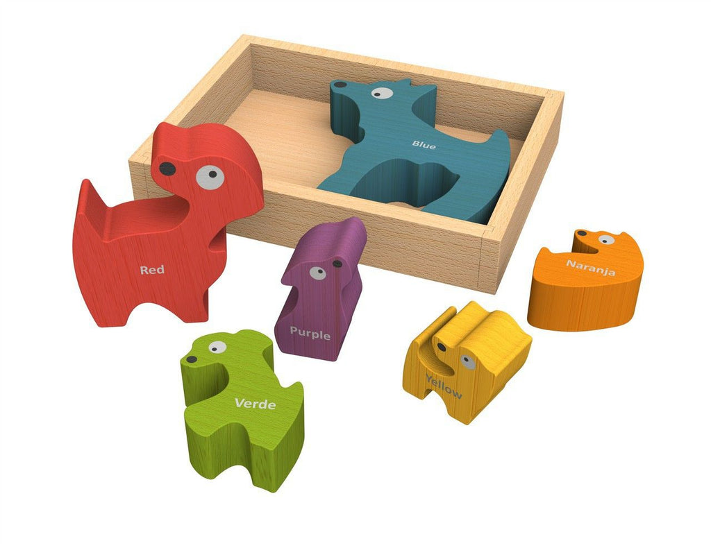 Dog Family Bi-Lingual Puzzle - KIDTON - 1