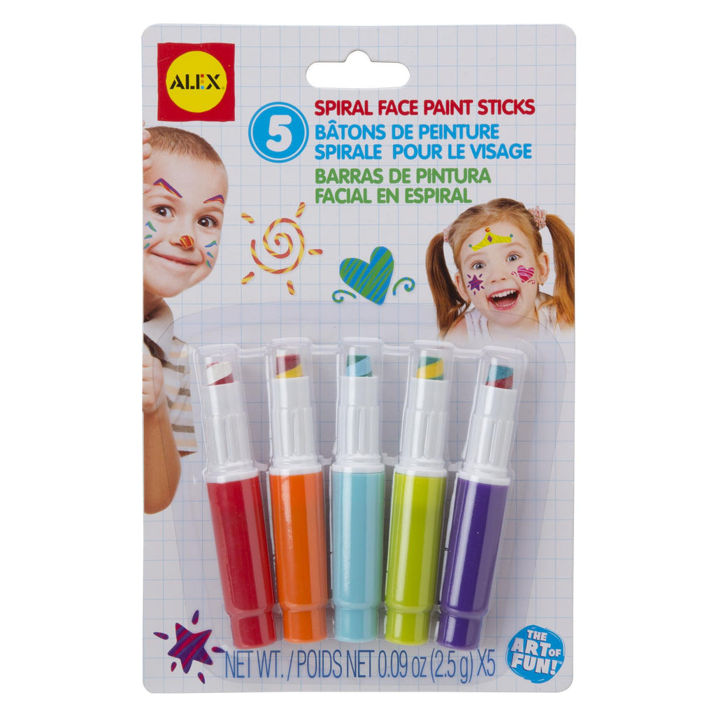 Spiral Face Paint Sticks - KIDTON