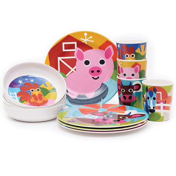 French Bull Farm Kids Collection - KIDTON - 1 ...  sc 1 th 225 & French Bull Farm Kids Collection - Melamine Plates