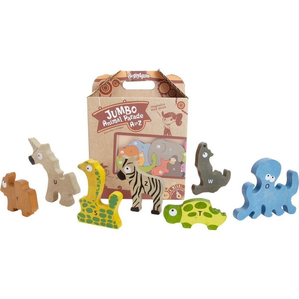 Animal Parade A to Z Puzzle - Jumbo Version - KIDTON - 1